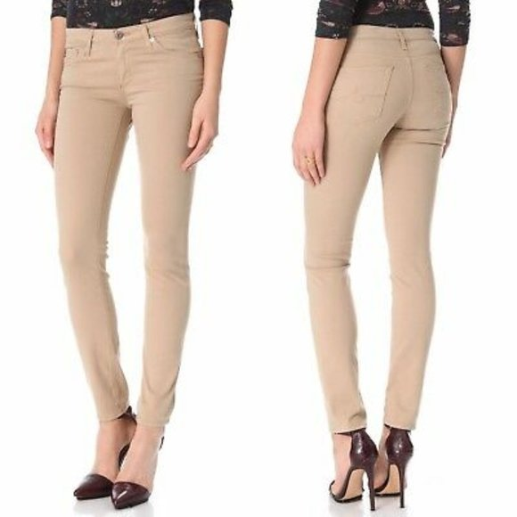 Adriana Goldschmied Tan Stilt Cigarette Pant